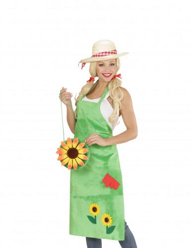 Gärtner Schürze für Erwachsene grün-1