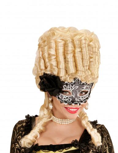 Elegante Maske mit Rose und Spitze für Damen