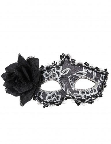 Elegante Maske mit Rose und Spitze für Damen-1