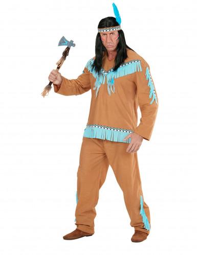 Indianer-Kostüm für Herren braun-blau