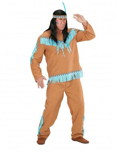 Indianer-Kostüm für Herren braun-blau-1