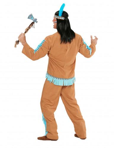 Indianer-Kostüm für Herren braun-blau-2