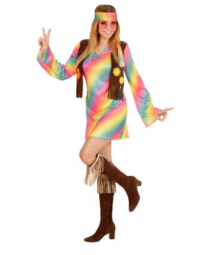 Hippie Damenkostüm bunt-1