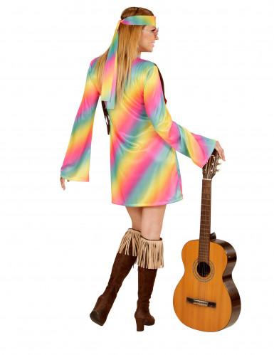 Hippie Damenkostüm bunt-2