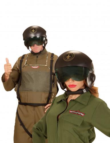 Piloten Klapphelm für Erwachsene-1