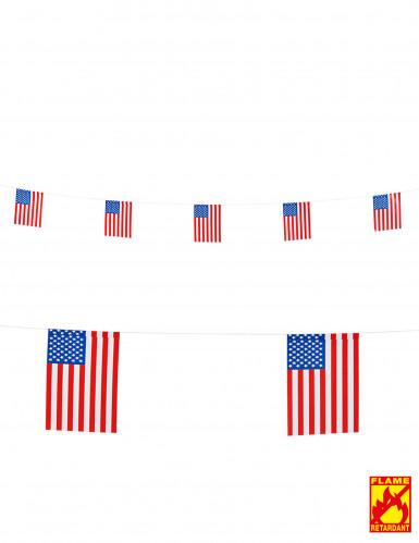 USA Fähnchen Party-Girlande 15 x 20 cm