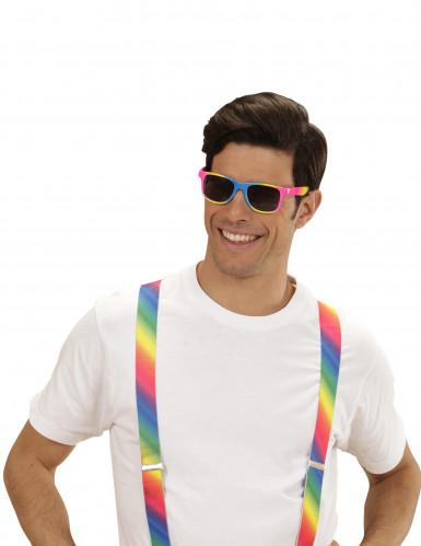 Bunte Spaßbrille mit schwarzen Gläsern für Erwachsene