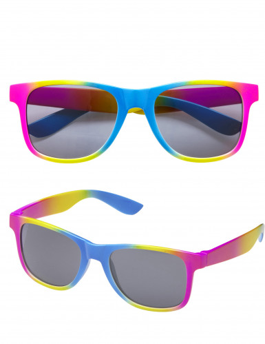 Bunte Spaßbrille mit schwarzen Gläsern für Erwachsene-2
