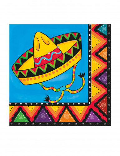 20 Papier-Servietten Mexiko-Motiv