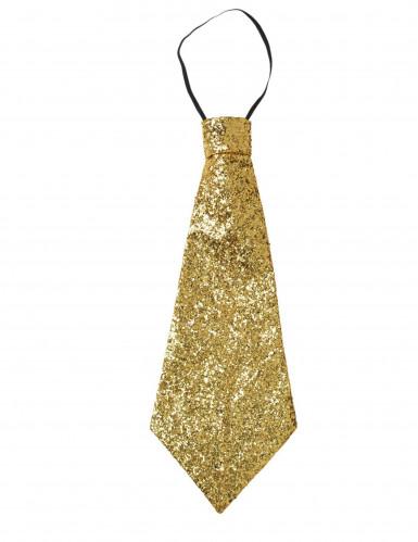 Goldene Glitzer-Krawatte für Erwachsene-2