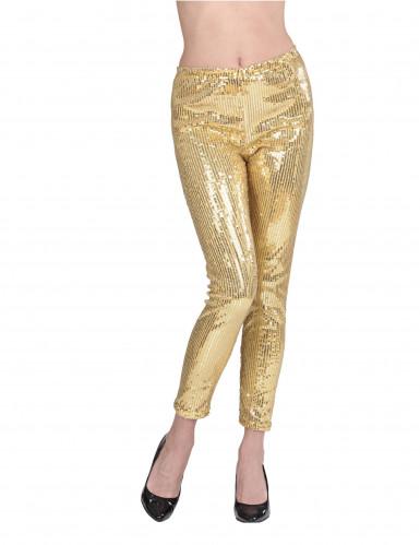 Pailletten-Leggings für Erwachsene gold-2