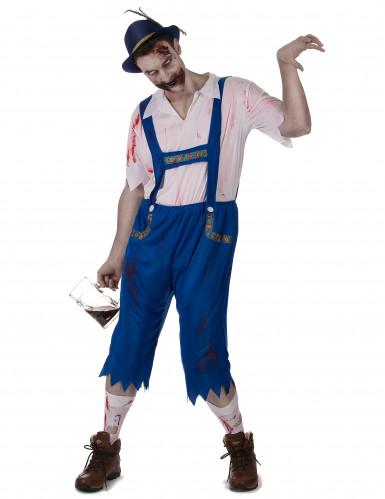 Blaues Zombie Lederhosen Kostüm