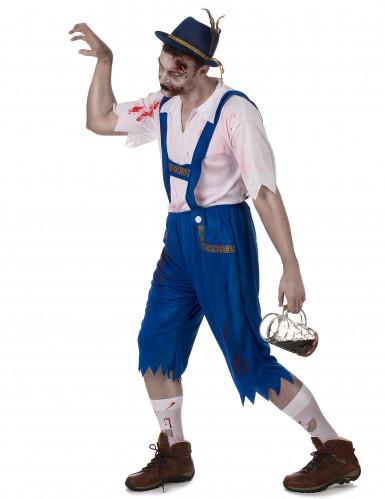 Blaues Zombie Lederhosen Kostüm-1
