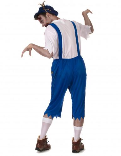 Blaues Zombie Lederhosen Kostüm-2