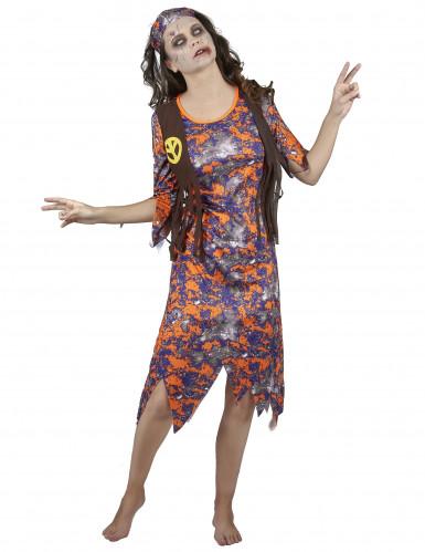 Kostüm Zombie Hippie für Damen