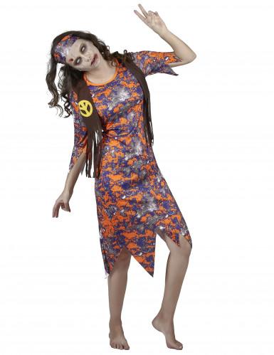 Kostüm Zombie Hippie für Damen-1