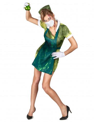 Kostüm radioaktive Krankenschwester für Damen-1