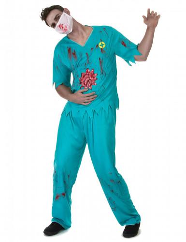 Blutiger Zombie Arzt Kostüm für Herren Halloween