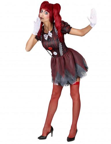 Schaurige Puppe Kostüm für Damen-1