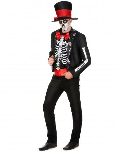 Skelett Kostüm für Herren Dia de los Muertos-1