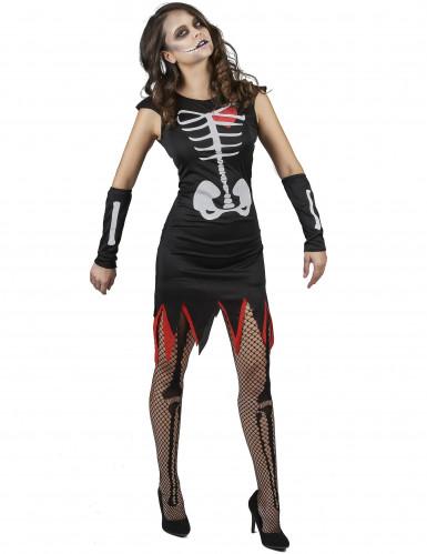 Skelett Kostüm für Damen-1