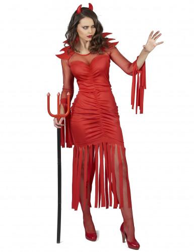 Feuerdämon Kostüm für Damen-1