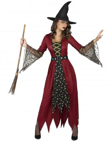 Hexenkostüm rot für Damen