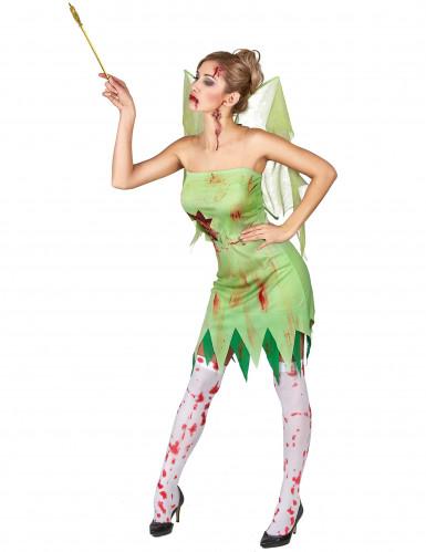Kostüm blutverschmierte grüne Fee-1