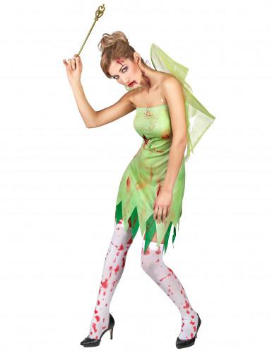 Kostüm blutverschmierte grüne Fee-2
