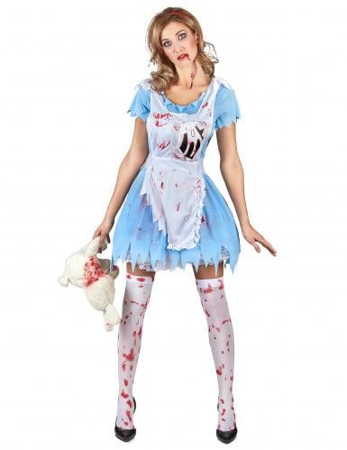 Kostüm blutverschmierte Alice für Damen