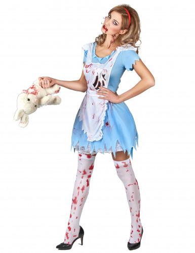 Kostüm blutverschmierte Alice für Damen-1