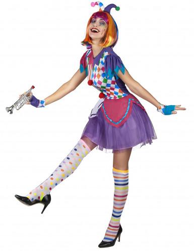 Harlekin Kostüm bunt für Damen-1