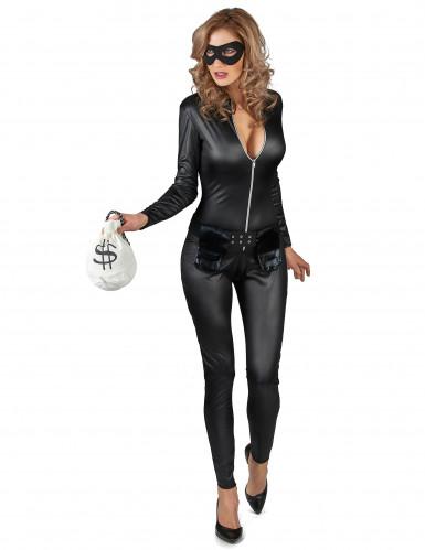 Maskierte Räuberin Kostüm für Damen-1