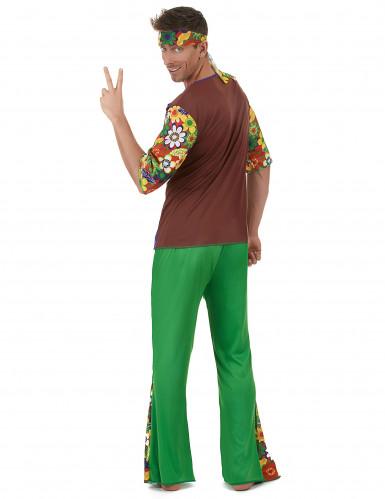 Grünes Hippiekostüm für Herren-2