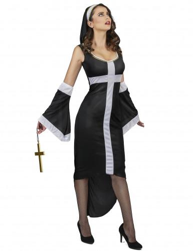 Sexy Nonne Kostüm für Damen-1