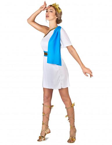 Griechische Kaiserin Kostüm für Damen weiss-goldfarben-blau-1