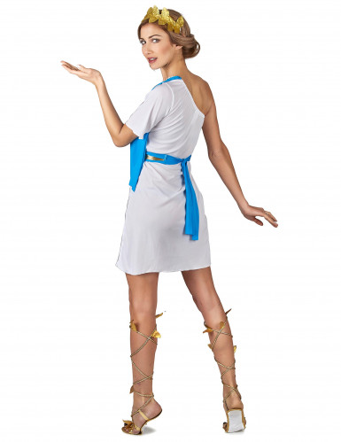 Griechische Kaiserin Kostüm für Damen weiss-goldfarben-blau-2