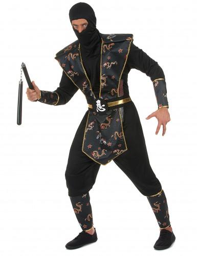 Ninja Kostüm für Herren bunt-1