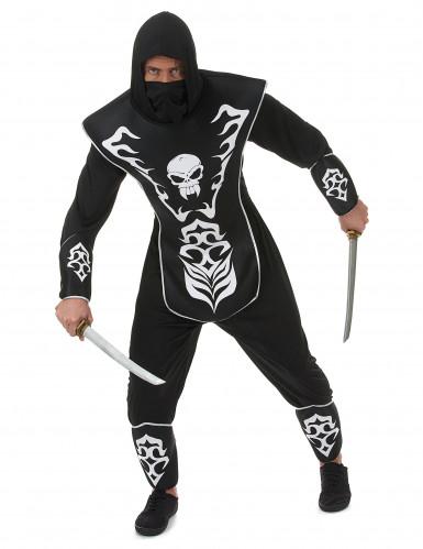 Ninja Totenkopf Kostüm für Herren