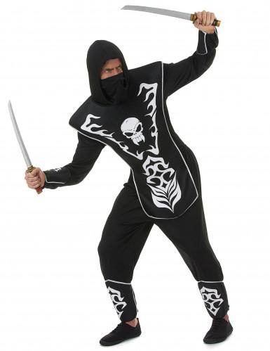 Ninja Totenkopf Kostüm für Herren-1