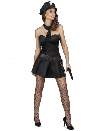 Sexy Polizistin Kostüm für Damen-1
