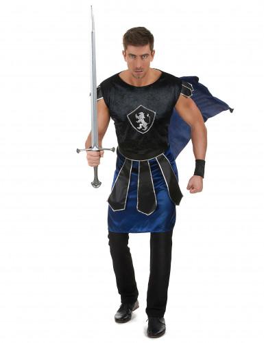 Ritterkönig-Kostüm für Herren schwarz-blau