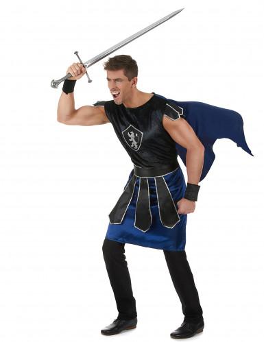 Ritterkönig-Kostüm für Herren schwarz-blau-1