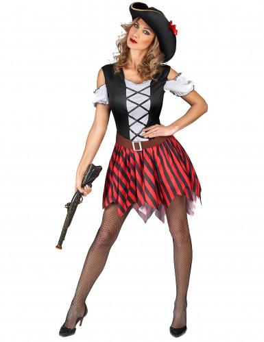 Piraten Karnevals-Kostüm für Damen bunt