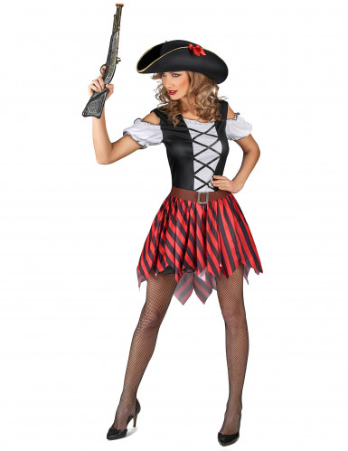 Piraten Karnevals-Kostüm für Damen bunt-1