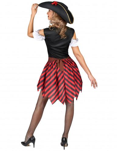 Piraten Karnevals-Kostüm für Damen bunt-2