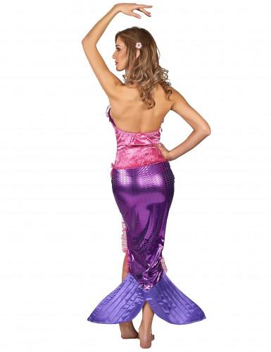Meerjungfrau Kostüm für Damen pink-lila-2
