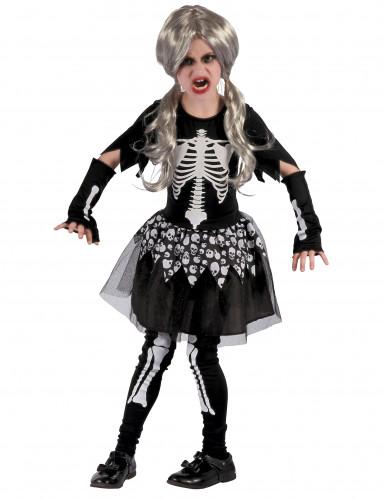 Kostün tanzendes Skelett für Mädchen