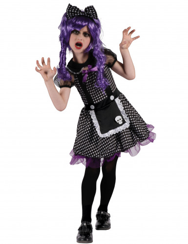 Kostüm Gothic Puppe für Mädchen