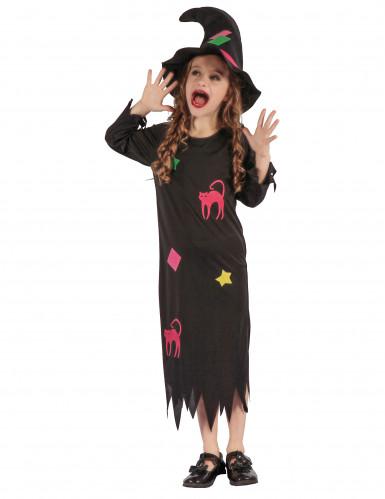 Kostüm witzige Hexe für Mädchen 110/116 (4-6 Jahre)